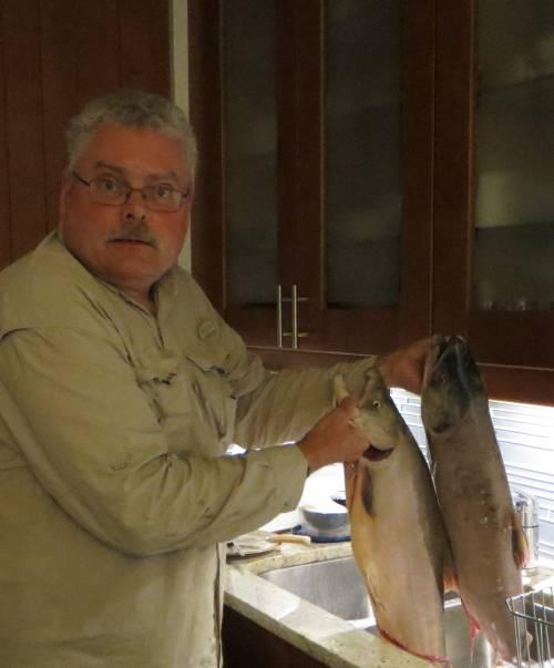 paul holding sockeye salmon