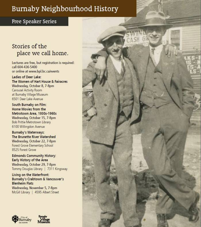 Burnaby History lecture series