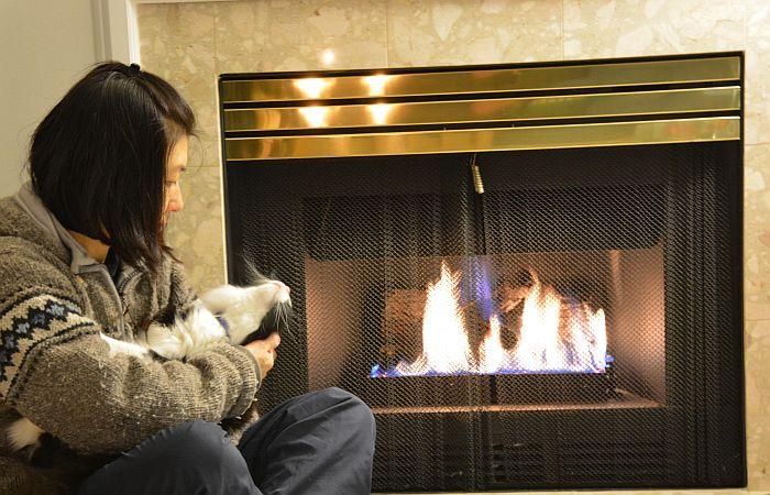 Yumi Choco fireplace