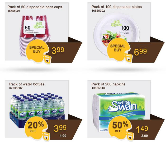 Rona disposable items