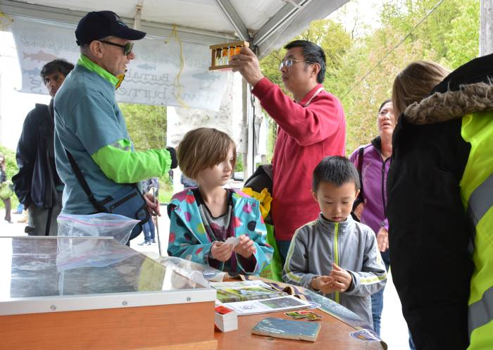 Byrne Creek Streamkeepers display Earth Fest