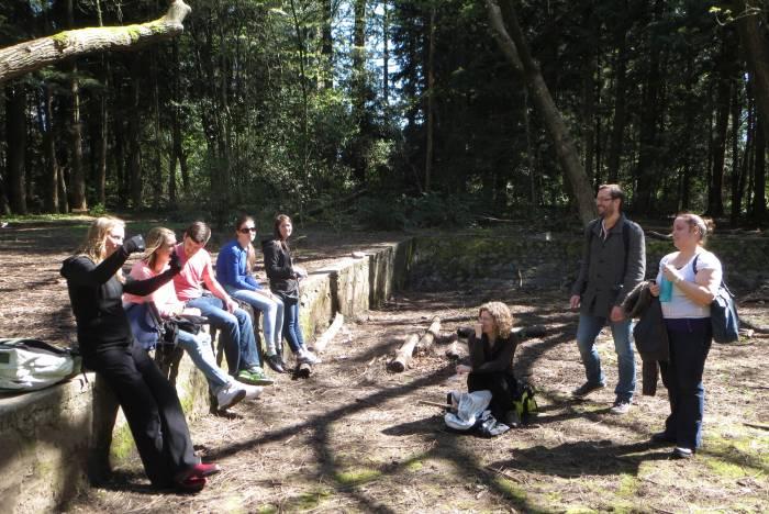 SFU students tour Byrne Creek