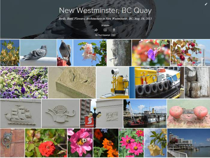 New Westminster, BC, photos on Quay
