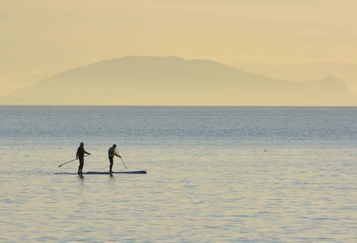 Paddle boarder White Rock BC