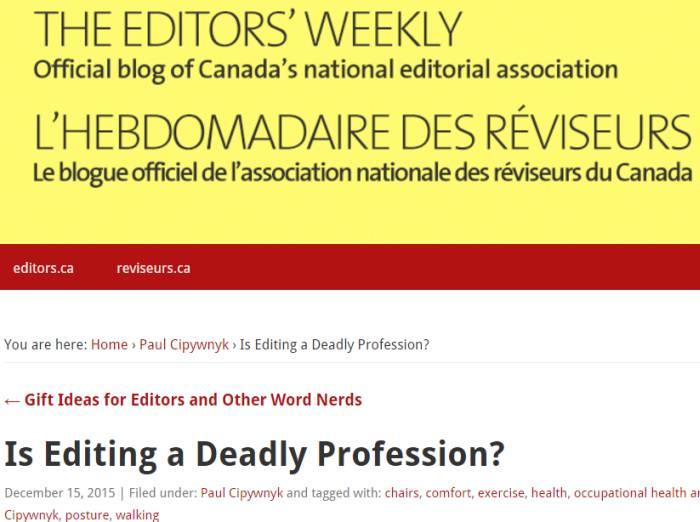 Editors Canada blog
