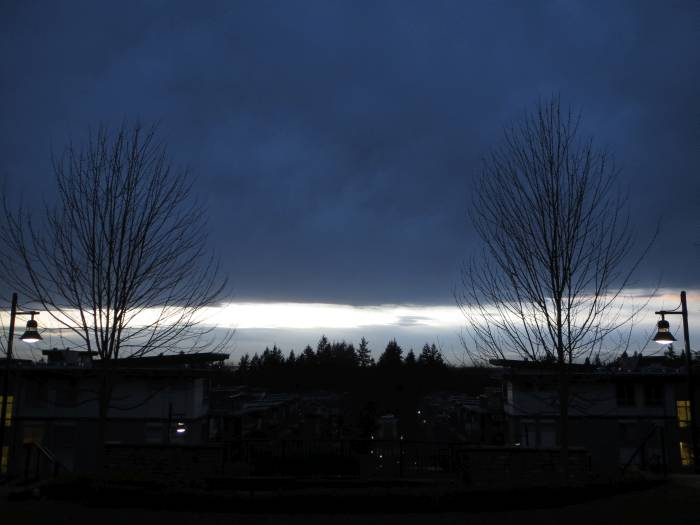 Darkness falls over Burnaby