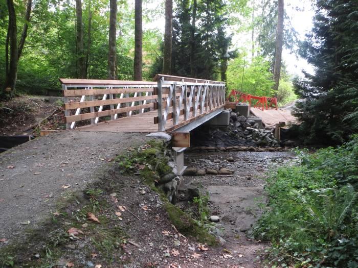 New Byrne Creek footbridge