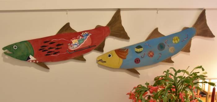 Christmas Salmon art