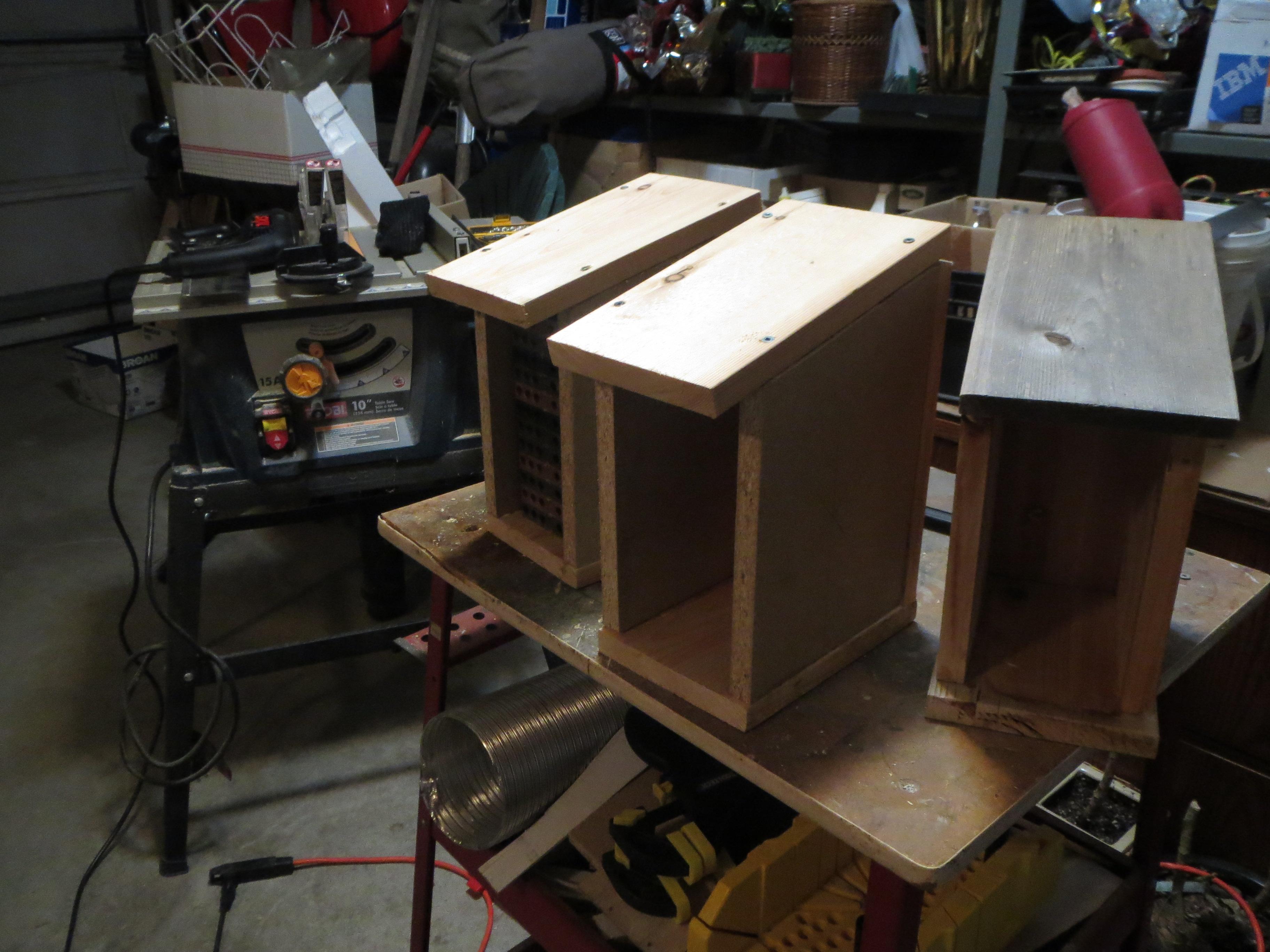 Mason Bee boxes