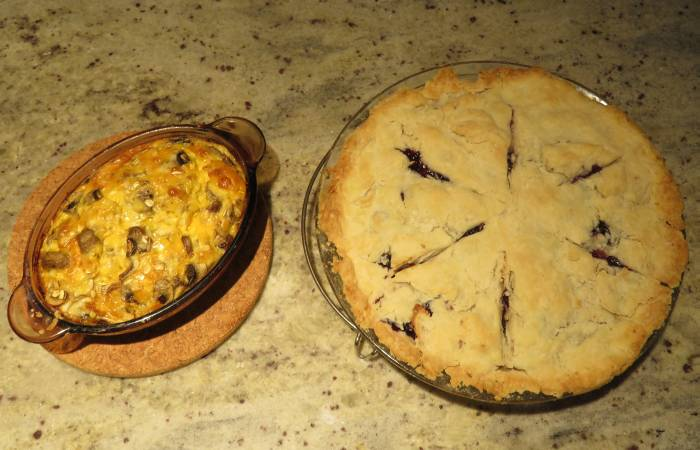 apple blueberry pie mushroom quiche