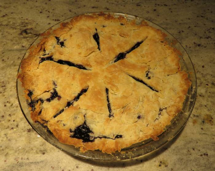 blueberry banana pineapple pie
