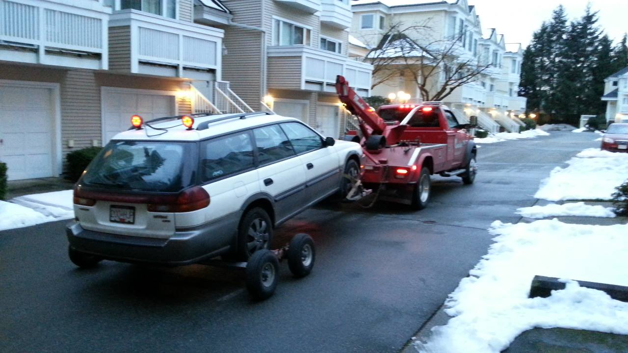 98 Outback towed away