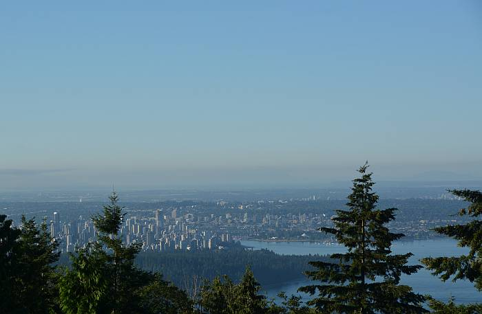 Blue Vancouver Cypress Mountain lookout