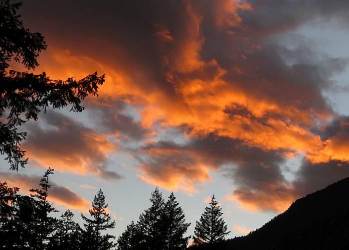 sunset at nairn falls