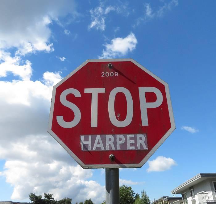 stop harper sign