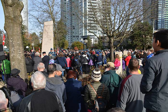 Remembrance Day at Bonsor Cenotaph in Burnaby