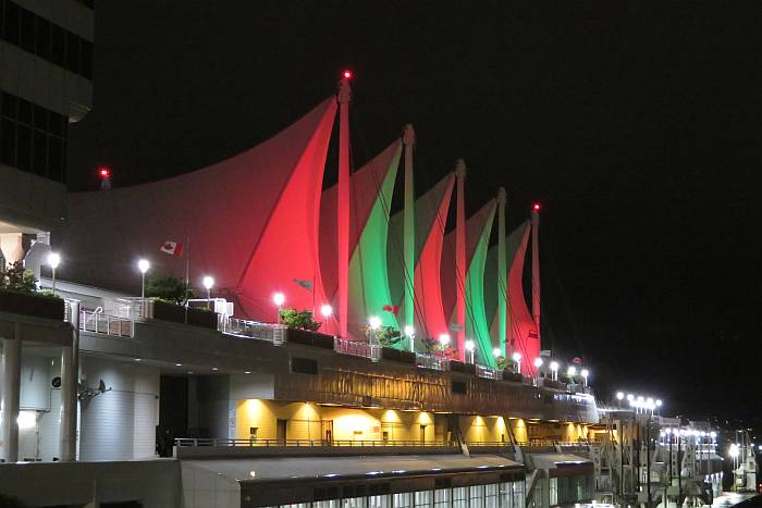 canada place christmas colors