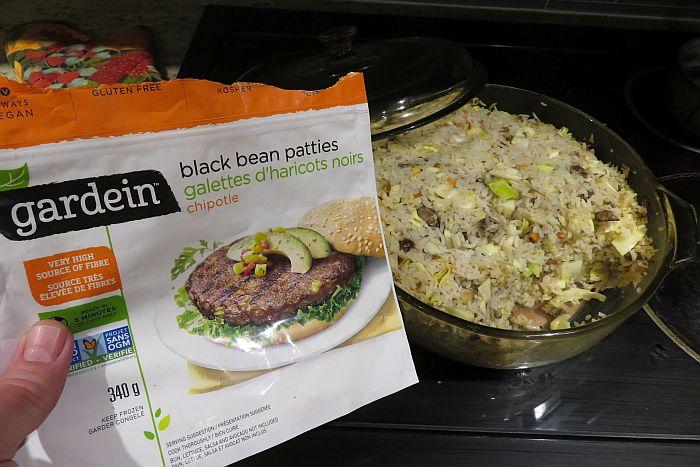 veggie burger rice casserole
