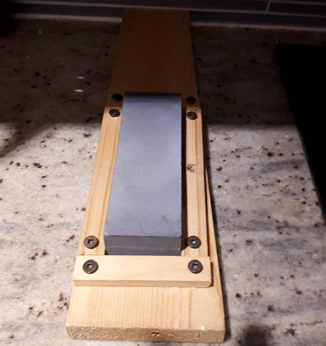 simple honing stone frame