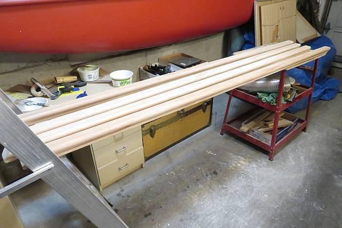 stripping sanding handrails