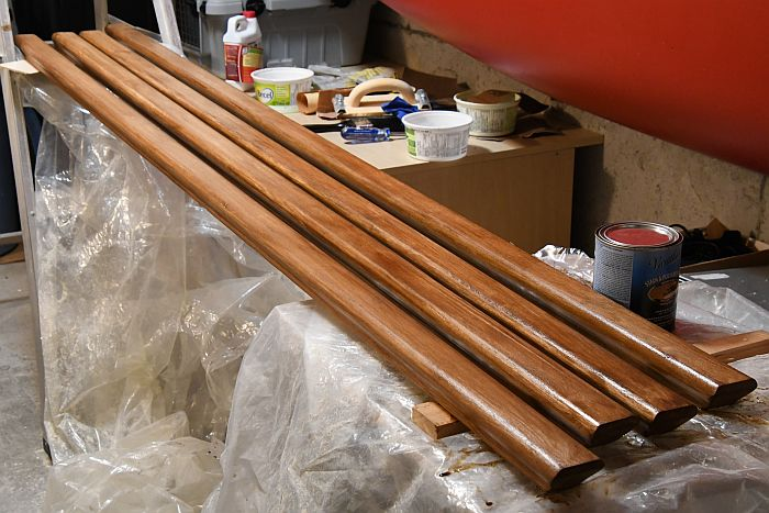 staining handrails