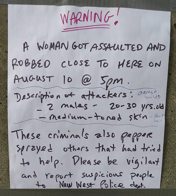 assault warning burnaby bc